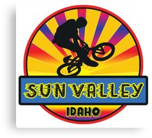 MOUNTAIN BIKE SUN VALLEY IDAHO BIKING MOUNTAINS Canvas Print