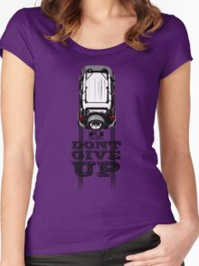 FJ CRUISER DONT GIVE UP Women's Fitted Scoop T-Shirt