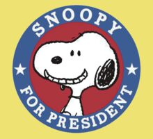 Love Snoopy for president One Piece - Short Sleeve