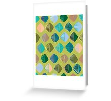 green diamonds Greeting Card