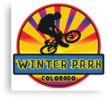 MOUNTAIN BIKE WINTER PARK COLORADO BIKING MOUNTAINS Canvas Print