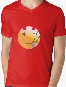 emotion devil Mens V-Neck T-Shirt