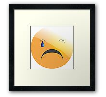 emotion cry Framed Print