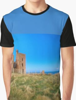 New Slains Castle at Moonlight (Cruden Bay, Aberdeenshire, Scotland) Graphic T-Shirt