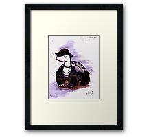 Tiny Turtle Undertaker Framed Print