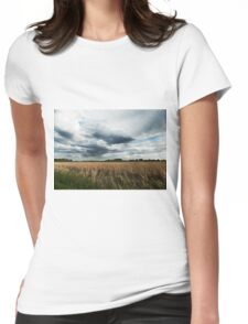 Midwest Storm Clouds  Womens Fitted T-Shirt