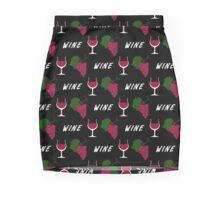 Wine pattern Mini Skirt