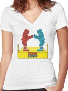 Rock'em Sock'em - 2D Original Women's Fitted V-Neck T-Shirt