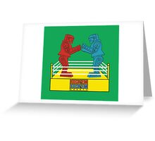 Rock'em Sock'em - 2D Original Greeting Card