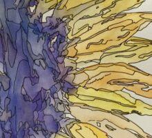 Watercolor Sunflower Sticker
