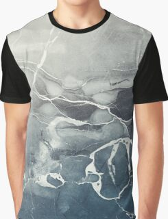 Blue Sea Marble Graphic T-Shirt