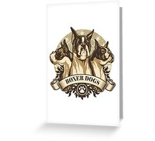 Boxer dogs Greeting Card