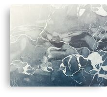 Blue Sea Marble Metal Print
