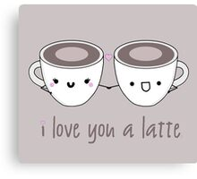 Lattes in Love Canvas Print
