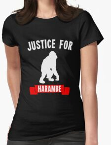 Justice for Harambe Womens Fitted T-Shirt