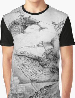 Wind Whales Graphic T-Shirt