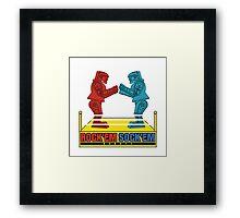 Rock'em Sock'em - 2D Original Text Variant Framed Print