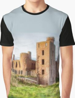 New Slains Castle Side View (Cruden Bay, Aberdeenshire, Scotland) Graphic T-Shirt