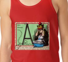 Alice in Wonderland and Through the Looking Glass Alphabet A Tank Top