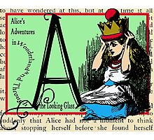 Alice in Wonderland and Through the Looking Glass Alphabet A Photographic Print