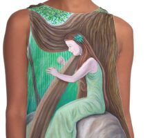 The Harpist and the Tree Contrast Tank