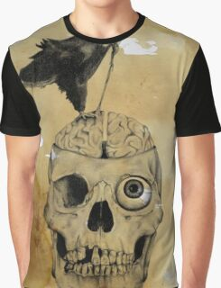 Surreal Skull Eyeball Madness Graphic T-Shirt