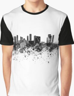 Rotterdam skyline in black watercolor Graphic T-Shirt