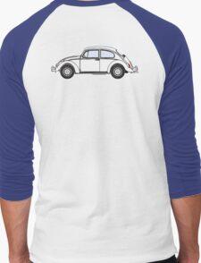 VW, Volkswagen, Beetle, Bug, Motor, Car, WHITE Men's Baseball ¾ T-Shirt