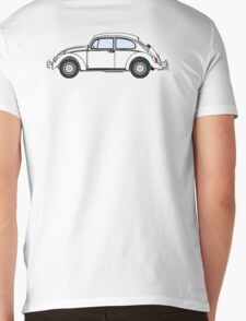 VW, Volkswagen, Beetle, Bug, Motor, Car, WHITE Mens V-Neck T-Shirt