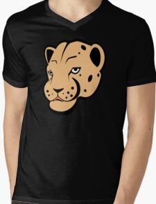 Leopard Mens V-Neck T-Shirt