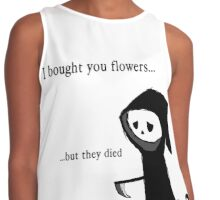 I bought you flowers, but... Contrast Tank