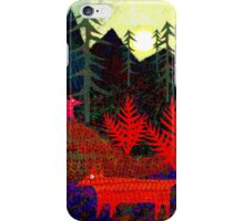 Three dotty foxes in the pines iPhone Case/Skin