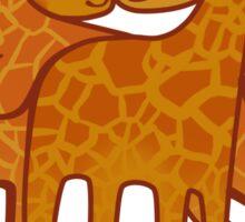 Giraffes hugs cute smiling Sticker
