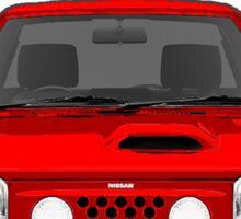 Nissan March Super Turbo K10 Red Sticker