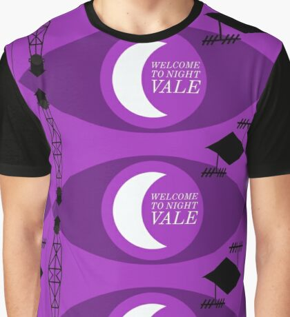 Night Vale Landscape Graphic T-Shirt