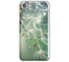 Dandelion with flying seeds iPhone Case/Skin