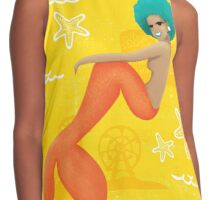 Coney Island Mermaid with Blue Hair Contrast Tank
