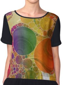 Rainbow Bubbles  Chiffon Top