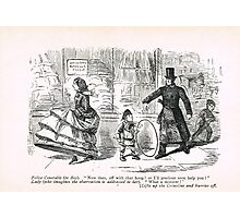 Misunderstanding with the law 19th Century cartoon by John Leech Photographic Print