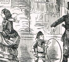 Misunderstanding with the law 19th Century cartoon by John Leech Sticker