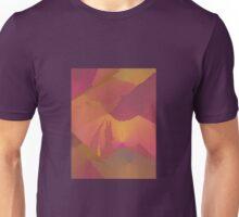 Purple Gold Abstract Sunset Art Unisex T-Shirt