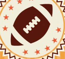 American football retro badge emblem Sticker