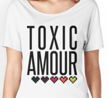 Toxic Amour   Pixel Hearts Women's Relaxed Fit T-Shirt