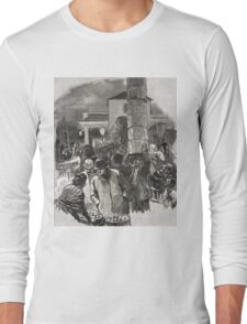 Covent Garden Market, London, England in the 19th Century Long Sleeve T-Shirt