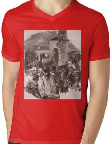 Covent Garden Market, London, England in the 19th Century Mens V-Neck T-Shirt