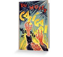Rare Caligari Poster  Greeting Card