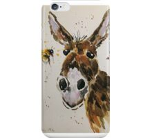 Funny Donkey and Bumble bee iPhone Case/Skin