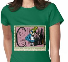 Alice in Wonderland and Through the Looking Glass Alphabet C Womens Fitted T-Shirt