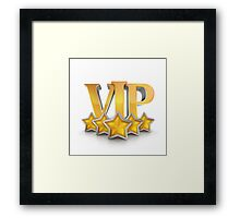 VIP number one winning badge as champion Framed Print