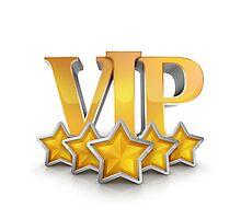 VIP number one winning badge as champion Photographic Print